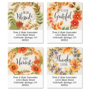 Autumn Wreaths Select Address Labels  (4 Designs)