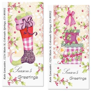 Sugar Plum Oversized Address Labels  (2 Designs)