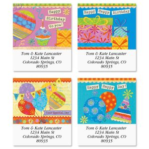 Happy Day Select Address Labels  (4 Designs)