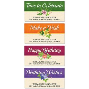 Framed Birthday Deluxe Address Labels  (4 Designs)