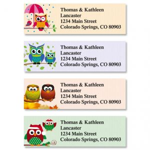 Year Round Owls Classic Address Labels  (4 Designs)