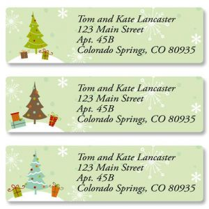 Retro Trees Classic Address Labels  (3 Designs)