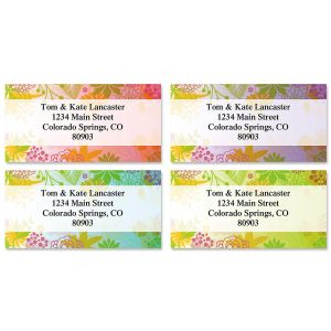 Floret Border Address Labels  (4 Designs)