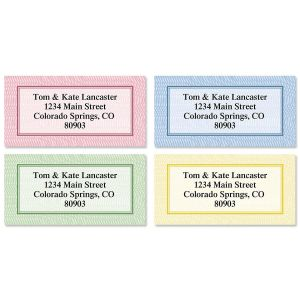 Security Collection Border Address Labels  (4 Designs)