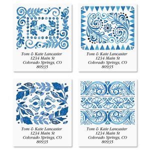 Crazy Quilt Select Address Labels  (4 Designs)