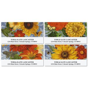 Sunflower Chambray Deluxe Address Labels  (4 Designs)