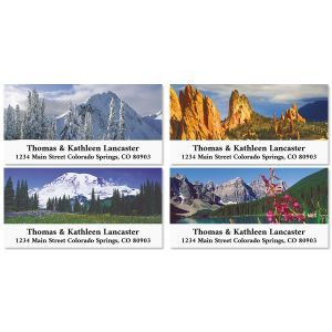 Rocky Mountains Deluxe Address Labels (4 Designs)