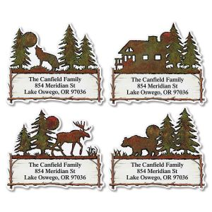 Country Lodge Diecut Address Labels  (4 designs)