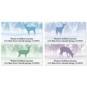 Wild Forest Deluxe Address Labels