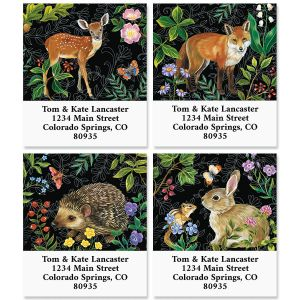 Animals in the Forest Select Address Labels (4 Designs)