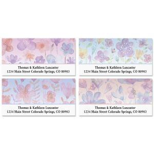 Delightful Flowers Deluxe Address Labels (4 Designs)