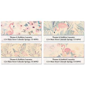 Flamingo Deluxe Address Labels (4 Designs)