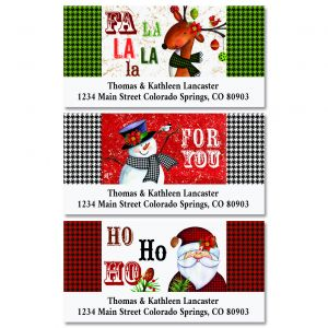 Santa & Co. Deluxe Christmas Address Labels (3 Designs)
