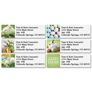 Happy Easter Classic Address Labels (6 Designs)