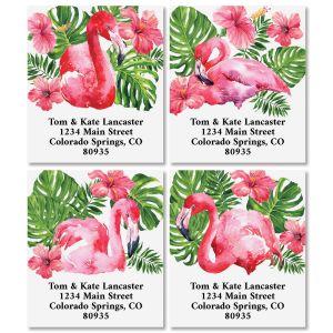 Tropical Flamingos Select Address Labels (4 Designs)
