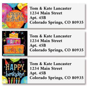 Fun Time Birthday Classic Address Labels (3 Designs)