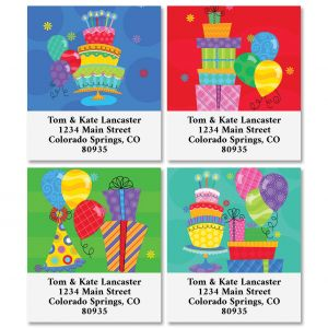 Birthday Party Select Address Labels (4 Designs)