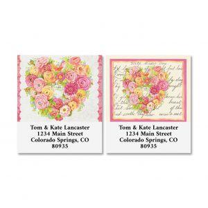 Valentine Flowers Select Address Labels (2 Designs)