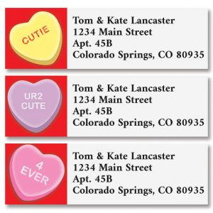Candy Hearts Classic Address Labels (3 Designs)