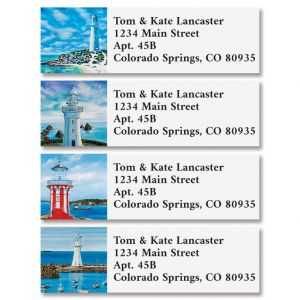 Light Houses Classic Address Labels (4 Designs)