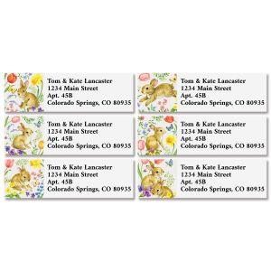 Bunny & Blossoms Classic Address Labels (6 Designs)