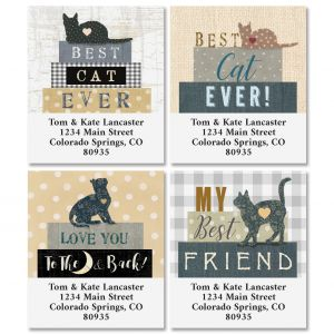 Best Cat Select Address Labels (4 Designs)