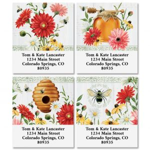 Floral Buzz Select Address Labels (4 Designs)