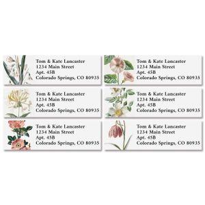 Antique Botanical Classic Address Labels (6 Designs)