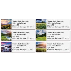 Summer Landscapes Classic Address Labels (6 Designs)