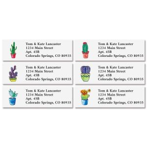 Cacti Classic Address Labels (6 Designs)