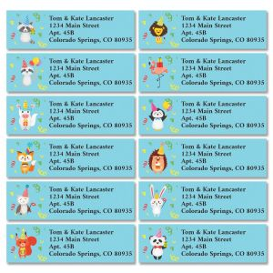 Party Animals Classic Address Labels (12 Designs)