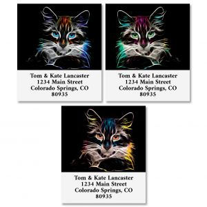 Fancy Cat Select Address Labels (3 Designs)
