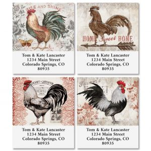 Cardinal Rooster Select Address Labels (4 Designs)