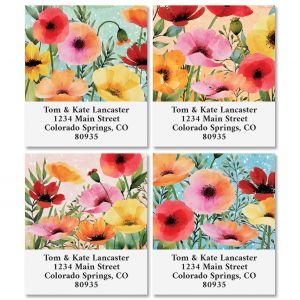 Summer Poppies Select Address Labels (4 Designs)