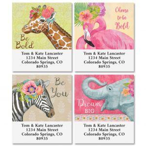Pink Jungle Select Address Labels (4 Designs)