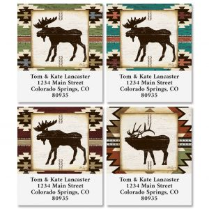 Rustic Lodge Select Address Labels (4 Designs)