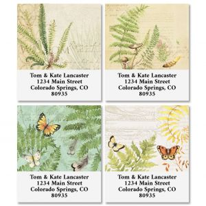 Ferns Select Address Labels (4 Designs)