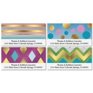 Bold Geo Deluxe Address Labels (4 Designs)