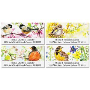 Summer Birds Deluxe Address Labels (4 Designs)