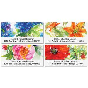 Big Blooms Deluxe Address Labels (4 Designs)