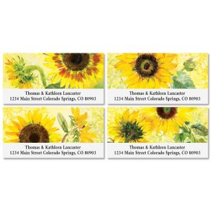 Sunny Sunflowers Deluxe Address Labels (4 Designs)