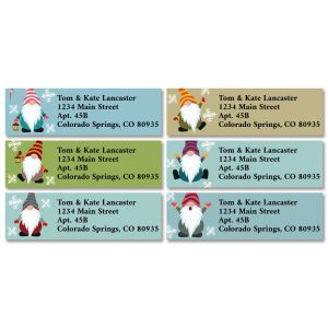 Christmas Gnomes Classic Address Labels (6 Designs)
