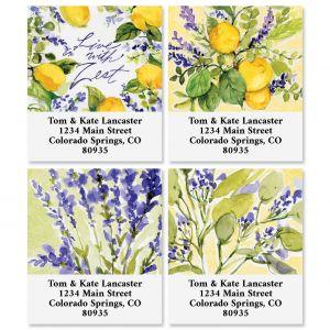 Watercolor Lemon Select Address Labels (4 Designs)