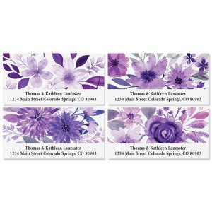 Amethyst Floral Deluxe Address Labels (4 Designs)