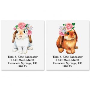 Spring Bunnies Select Address Labels (2 Designs)