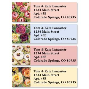 Floral Painting Classic Address Labels (4 Designs)