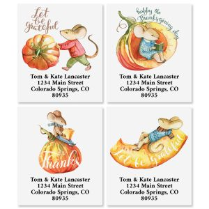 Thankful Mouse Select Address Labels (4 Designs)
