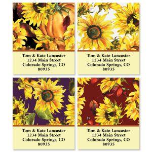 Festive Sunflowers Select Address Labels (4 Designs)