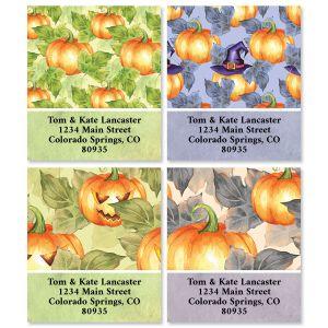 Pumpkin Pattern Select Address Labels (4 Designs)