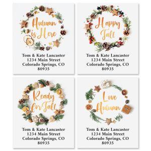 Cypress Wreath Select Address Labels (4 Designs)